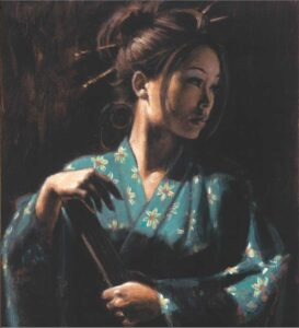Geisha en Turquesa by Inspirational Artist Fabian Perez