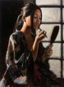 Geisha with Mirror by Inspirational Artist Fabian Perez