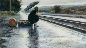 Leaving in the Rain by Artist Steve Hanks
