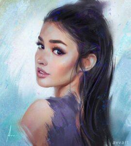 Liza by Artist Aleksei Vinogradov