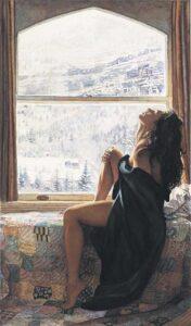 On the Warm side of Winter by Artist Steve Hanks