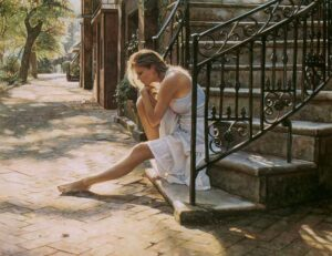 One Step at a Time by Artist Steve Hanks