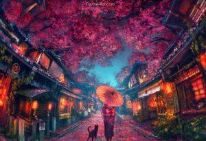 Sakura Festival by Artist Yuumei, aka Wenqing Yan