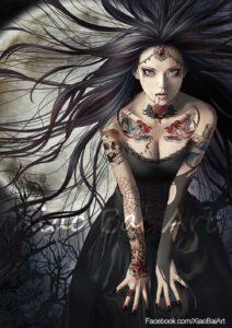Vampire Bride by Artist Zhang XiaoBai