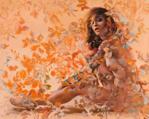 Autumn Damask by Inspirational Artist Sergio Lopez