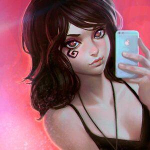 Death Selfie by Inspirational artist Ilya Kuvshinov