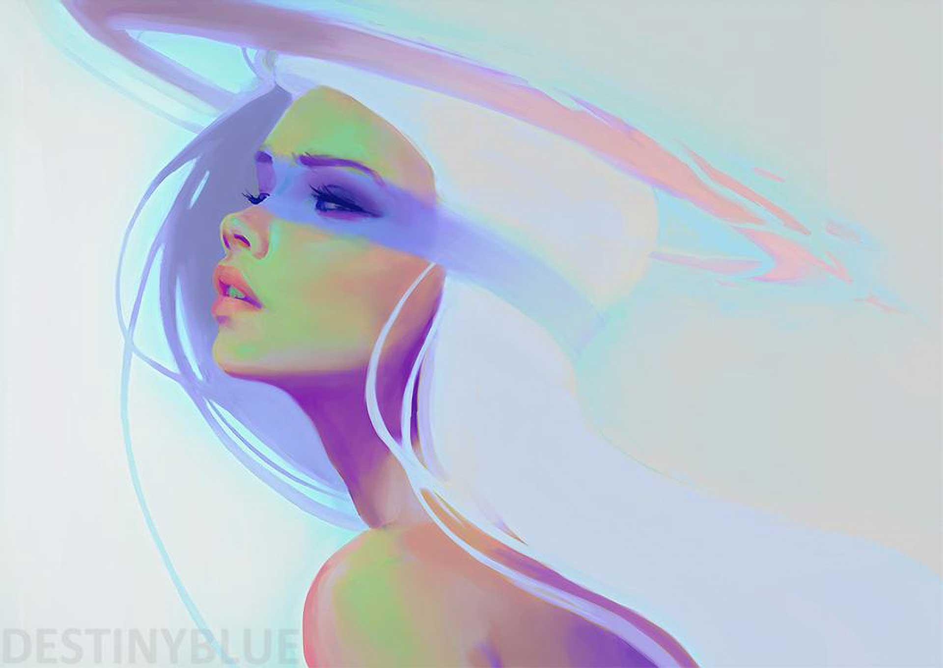 Inspirational Art Dark Side by Artist DestinyBlue, real name Alice de Ste Croix