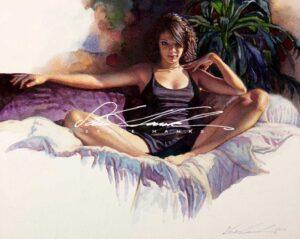 Her Gypsy Eyes by Artist Steve Hanks