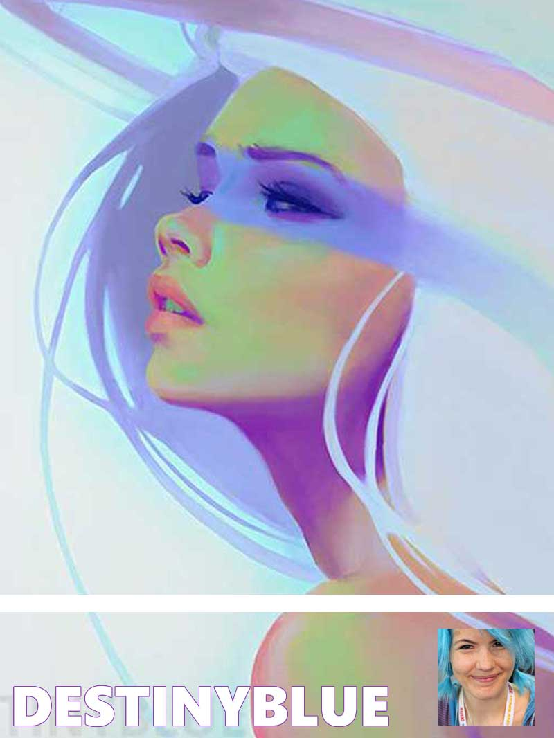 Inspirational Artist DestinyBlue