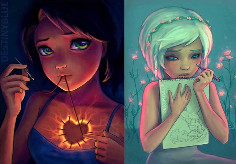 My Favourite Inspirational Artwork by Artist DestinyBlue