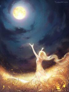 Moon Catcher by Artist Yuumei, aka Wenqing Yan