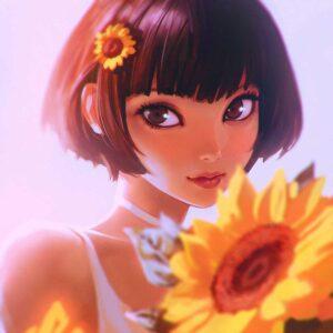Sunflower by Inspirational artist Ilya Kuvshinov