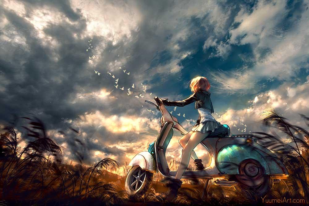 Take In The Sky by Artist Yuumei, aka Wenqing Yan