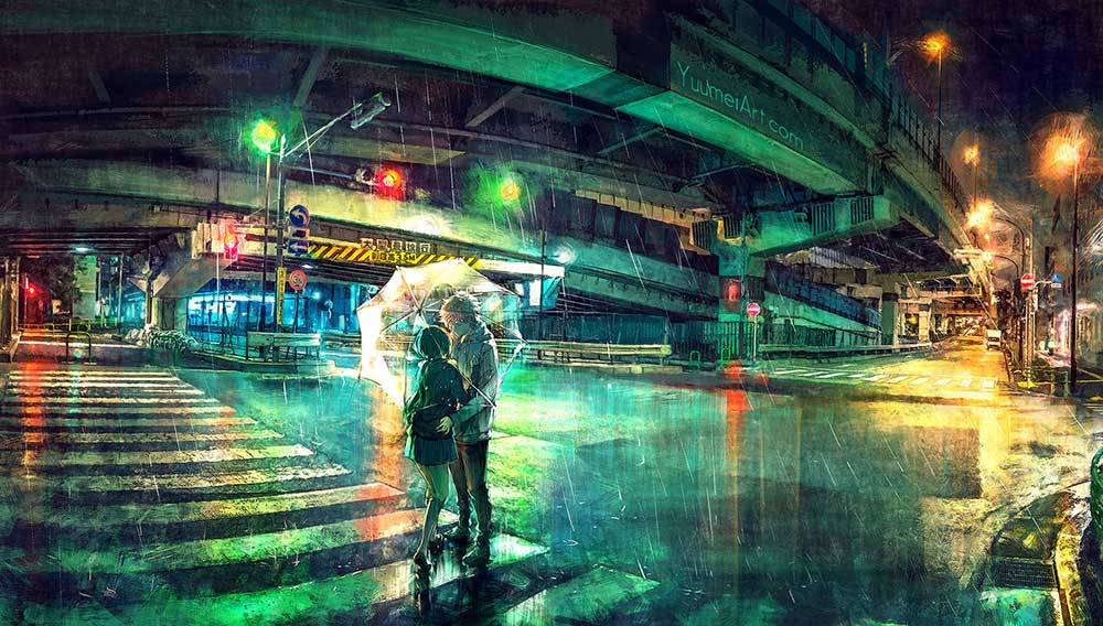 Under The Overpass by Artist Yuumei, aka Wenqing Yan