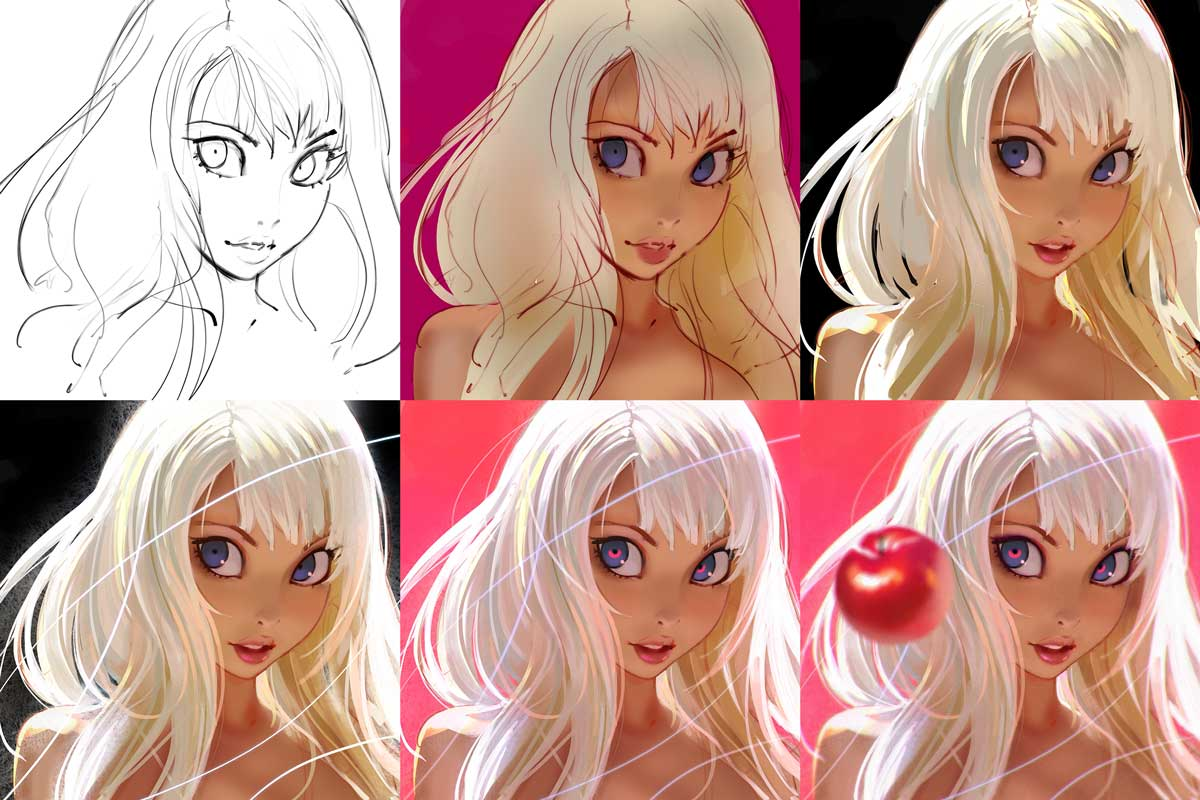 Work In Progress Photos By Artist Ilya Kuvshinov