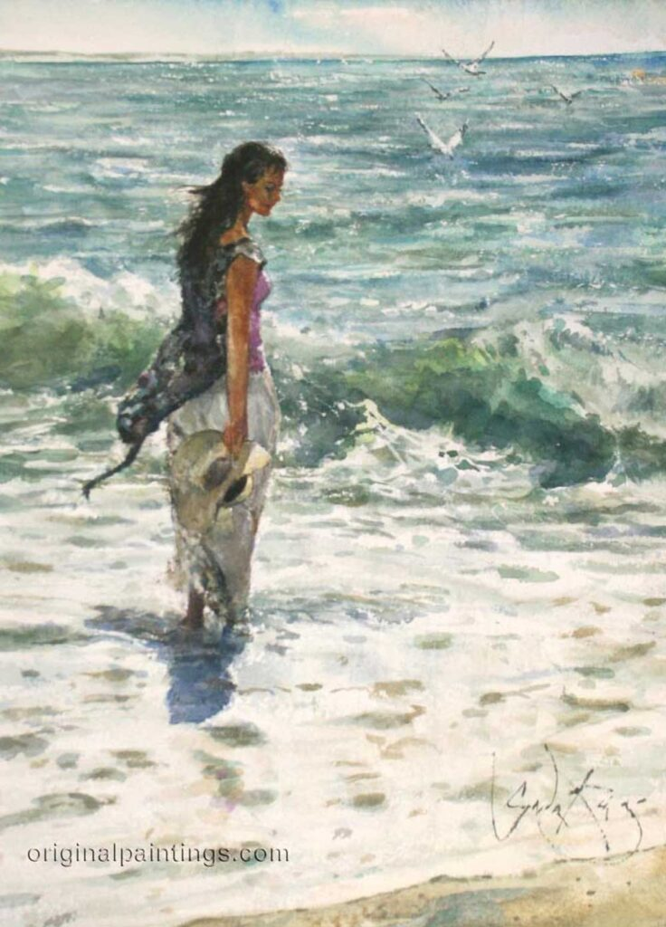 Inspirational Art : Through a Sea of Light, by Gordon King
