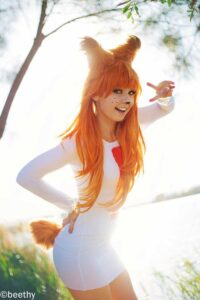 Inspirational Model Amy Thunderbolt Bubsy Cosplay