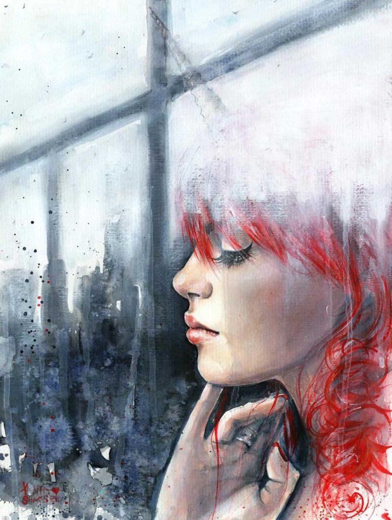 Inspirational Art : Behind by Tanya Shatseva
