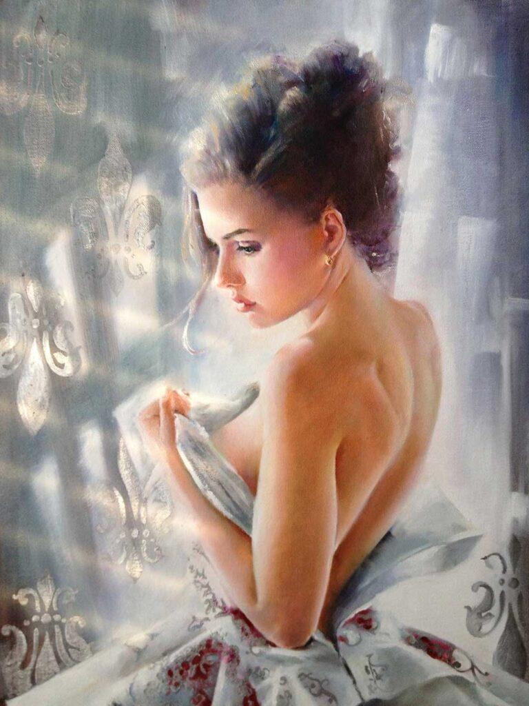 Inspirational Art : Morning Snowflake by Olga Duk