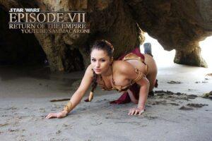 Inspirational Model Liz Katz Slave Leia Star Wars Cosplay