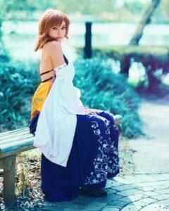 Inspirational Model Amy Thunderbolt Yuna Final Fantasy X Cosplay