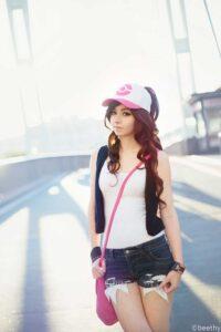Inspirational Model Amy Thunderbolt Hilda Touko Pokemon Cosplay