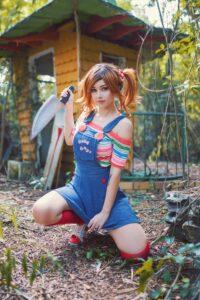 Inspirational Model Amy Thunderbolt Chucky Childs Play Cosplay