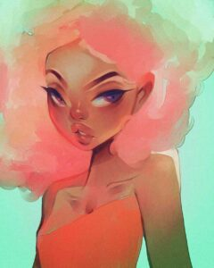 Inspirational Art : Pink Fro by Aaliya July
