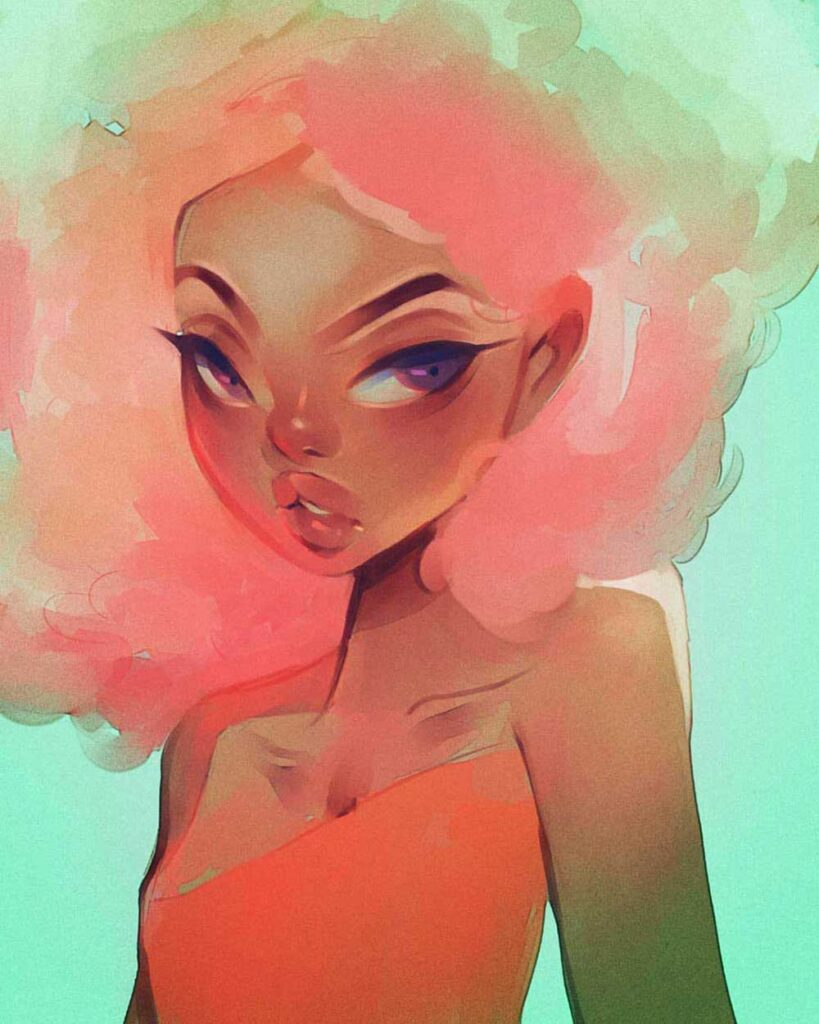 Inspirational Art : Pink Fro by Aaliya July