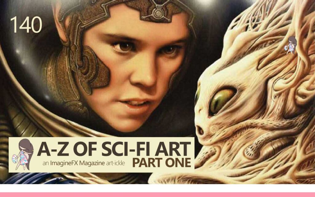 THE A-Z OF SCI-FI ART PART ONE - an ImagineFX Magazine Article : Episode 140 of the So Free Art Podcast, with Transgender Artist Sophie Lawson