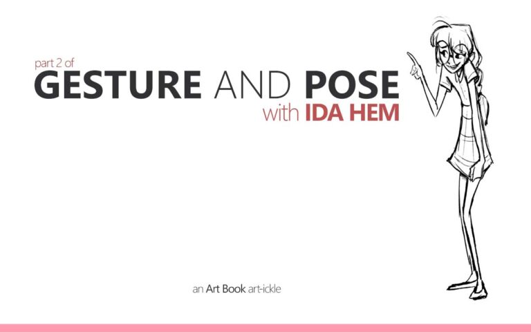 155 • GESTURE AND POSE WITH IDA HEM PART 2 : AN ART BOOK ART-ICKLE