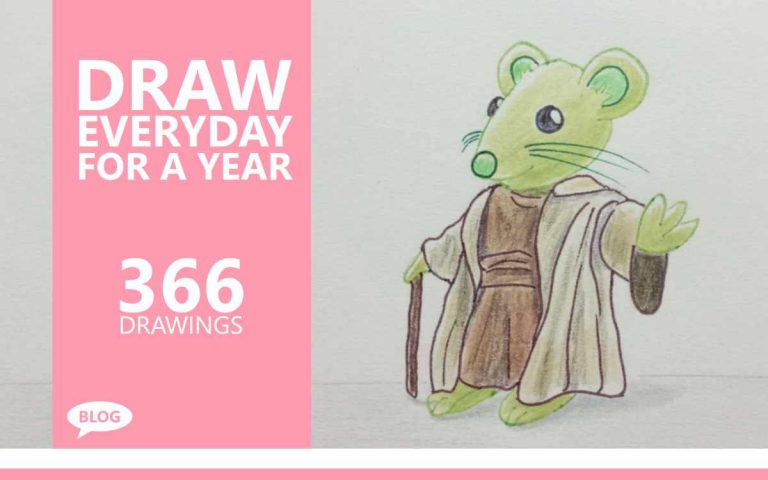DRAW EVERYDAY FOR A YEAR ART CHALLENGE • 366 DRAWINGS