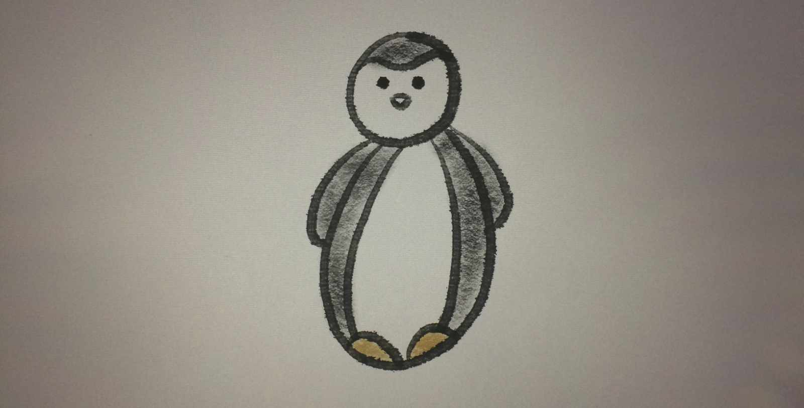Peter the Penguin Sketch - Learning Procreate Introduction with Artist Sophie Lawson