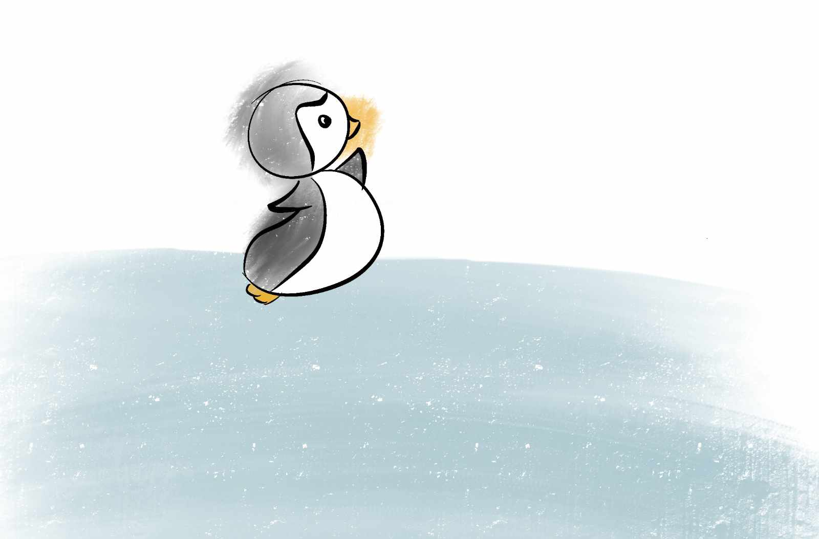 Learning Procreate Week 1 : Peter the Penguin, with Artist Sophie Lawson