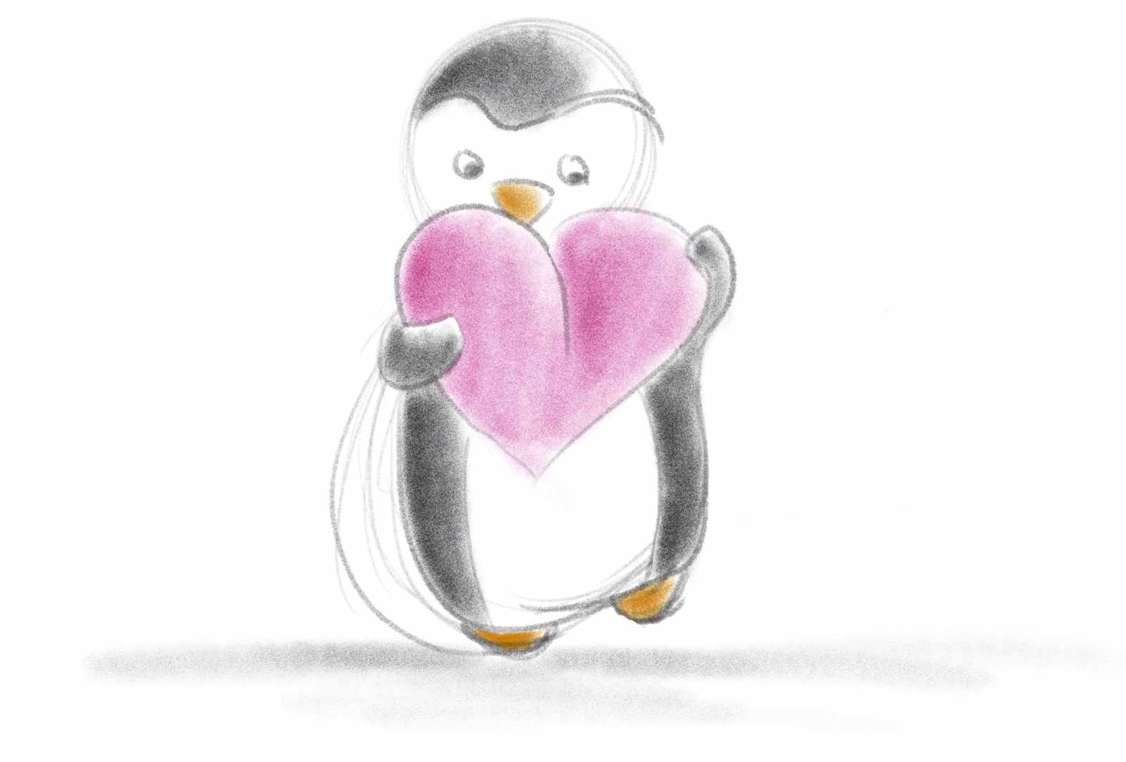 Learning Procreate Week 2 : Peter the Penguin, with Artist Sophie Lawson