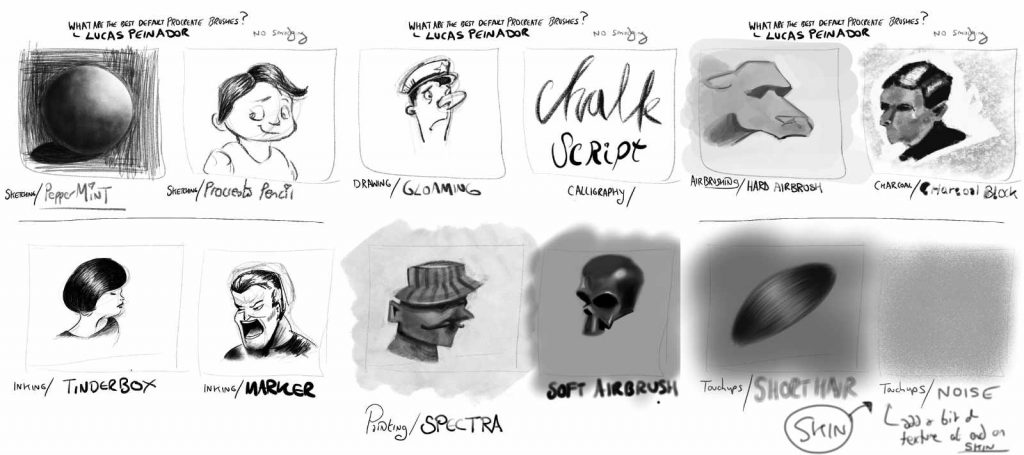 Learning Procreate Week 2 : What are the best Procreate default brushes? by Lucas Peinador, with Artist Sophie Lawson